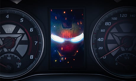 Hyundai KONA Iron Man Edition Tachoanzeige Bordcomputer Startanimation