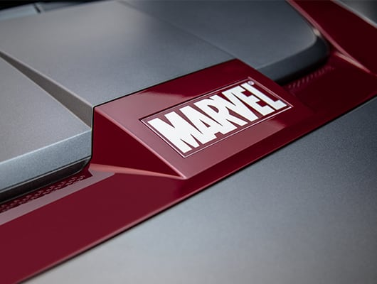 Hyundai KONA Iron Man Edition Marvel Motorhauben-Ornament