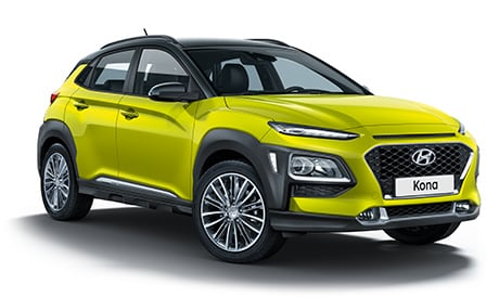 Hyundai KONA in Acid Yellow