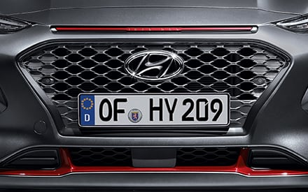 Hyundai KONA Iron Man Edition Kühlergrill in Dark Chrome