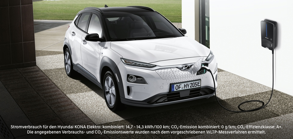 Hyundai KONA an der Alpiq Wallbox
