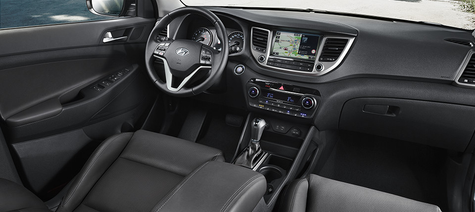 Tucson Interieur in schwarz