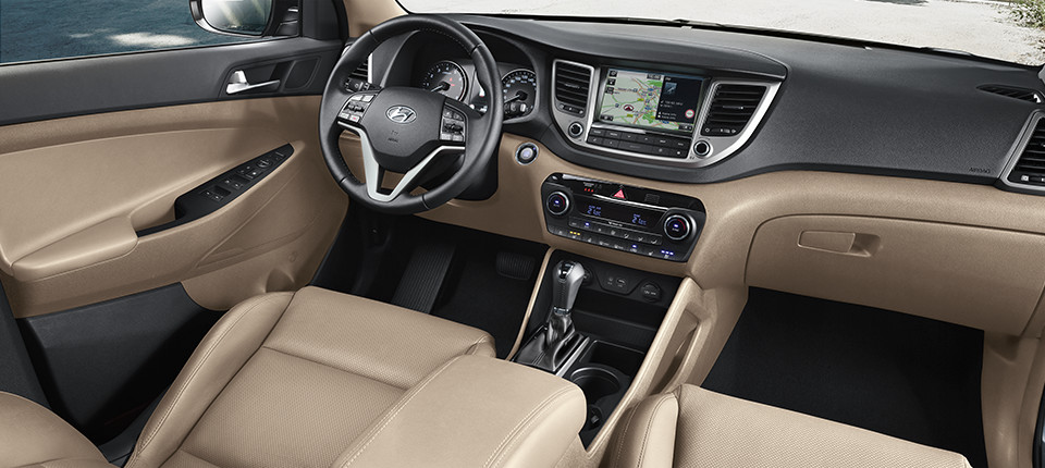 Tucson Interieur in beige
